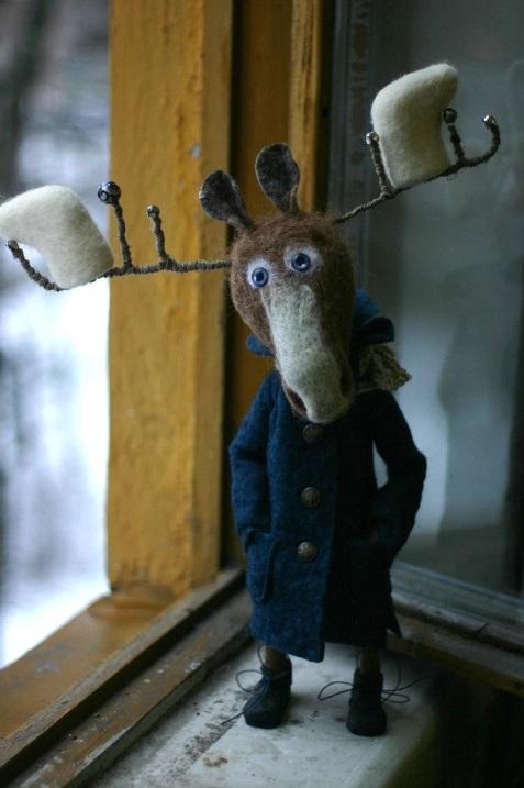 Игрушки из войлока Катерины Козуненко