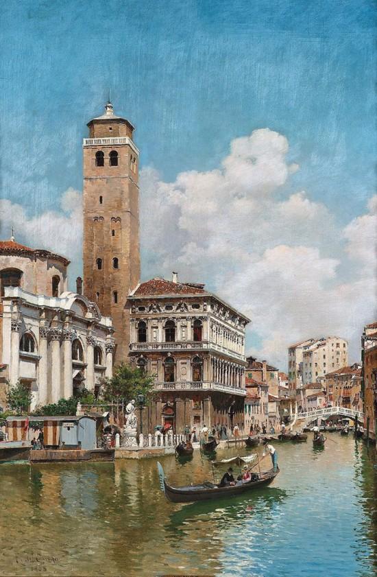 городские пейзажи художника Federico del Campo - 11