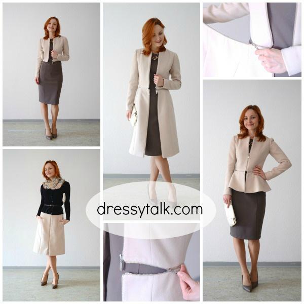 Пальто-трансформер 4в1: пальто, жакет, юбка, болеро