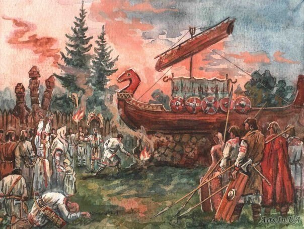 Похоронные обряды древних славян