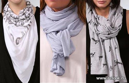 Масса способов красиво повязать шарф , платок, палантин.