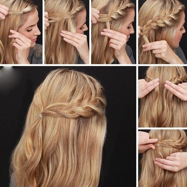 Лёгкие причёски на каждый день своими руками на длинные волосы