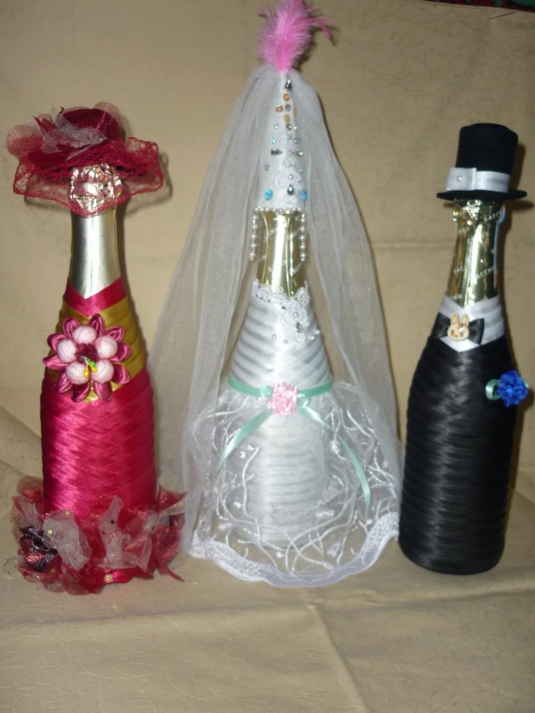 Как из бутылки сделать невесту 538