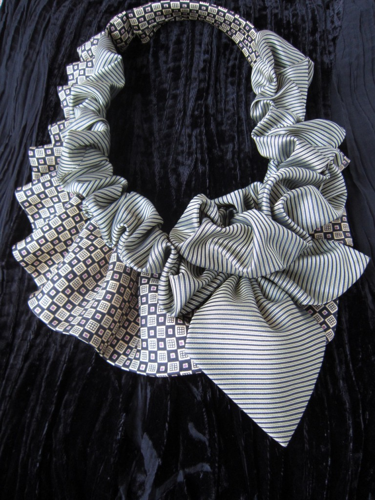 Шарф из галстуков