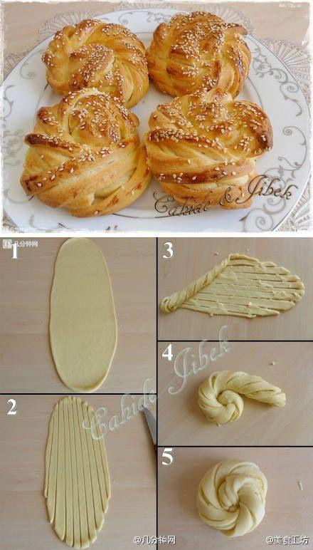как приготовить красивые булочки дома