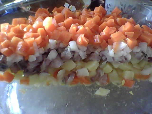 Постный салатик