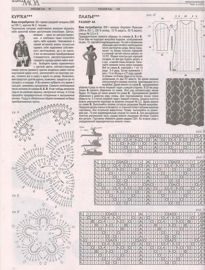 Журнал мод схемы для вязания 171