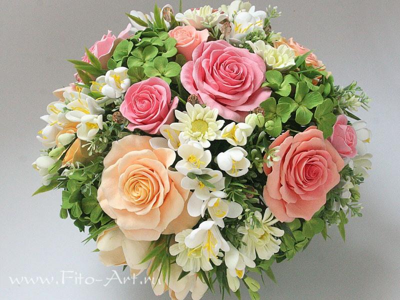 Цветы из полимерной глины Екатерины Звержанской и МК