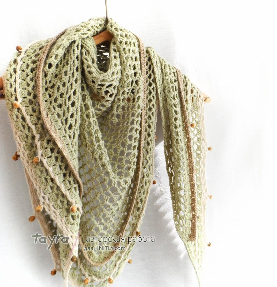 Шаль-платок Green Tea для начинающих