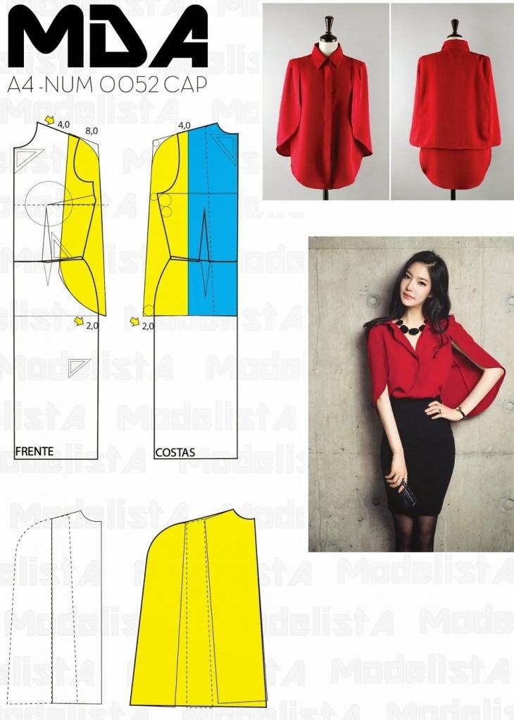 Простые выкройки блуз с накидками