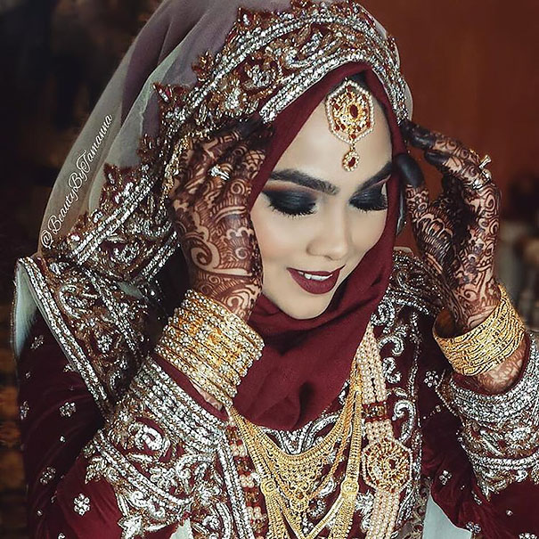 Элегантные невесты в хиджабах