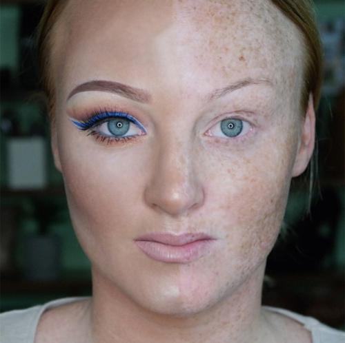 Девушка показала, что на самом деле, макияж - это весело, макияж - это здорово!