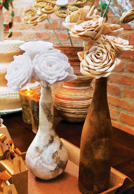 Розы из кофейных фильтров