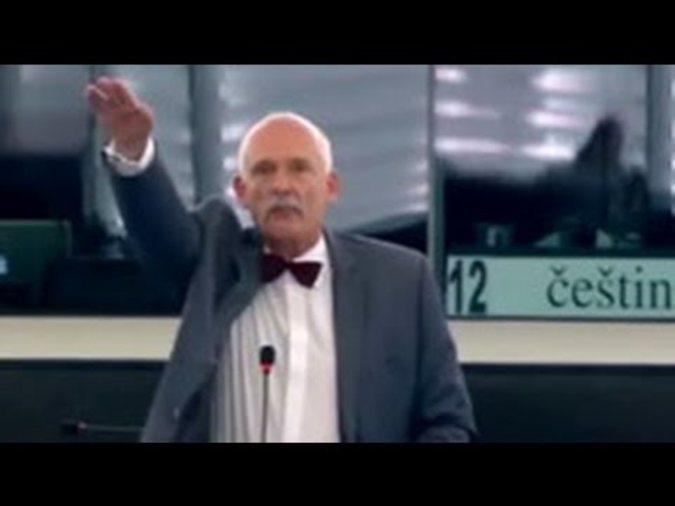 Польский депутат «кинул зигу» в Европарламенте