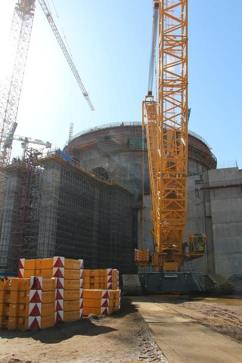 На втором строящемся энергоблоке ЛАЭС-2 начали бетонирование эстакады транспортного шлюза