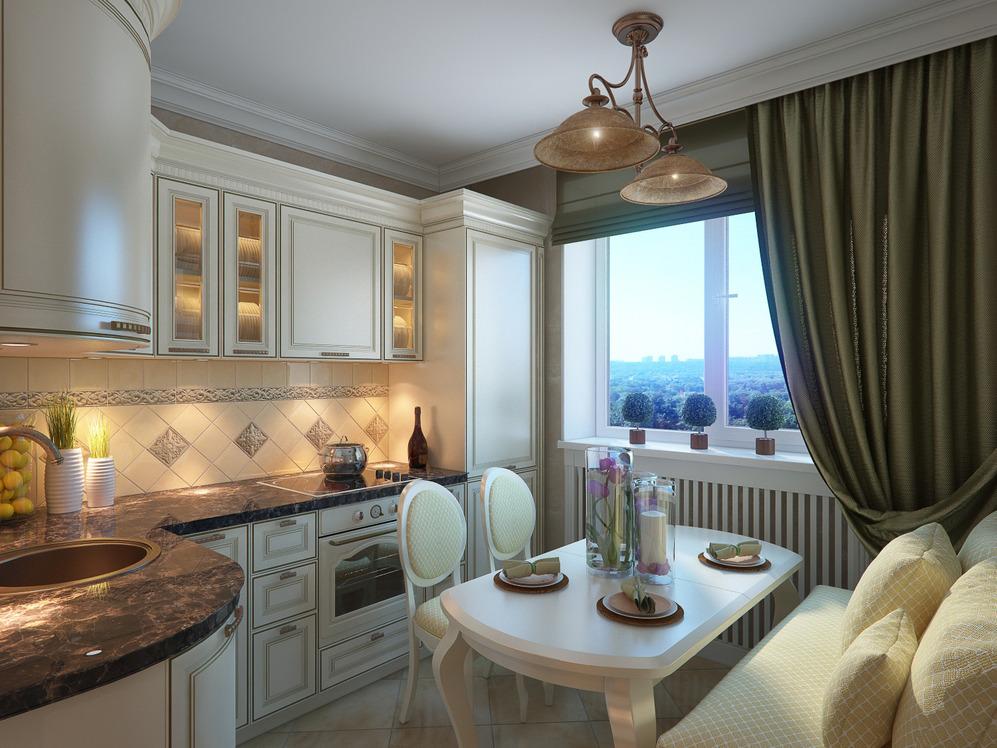 Ремонт в трехкомнатной квартире кухни