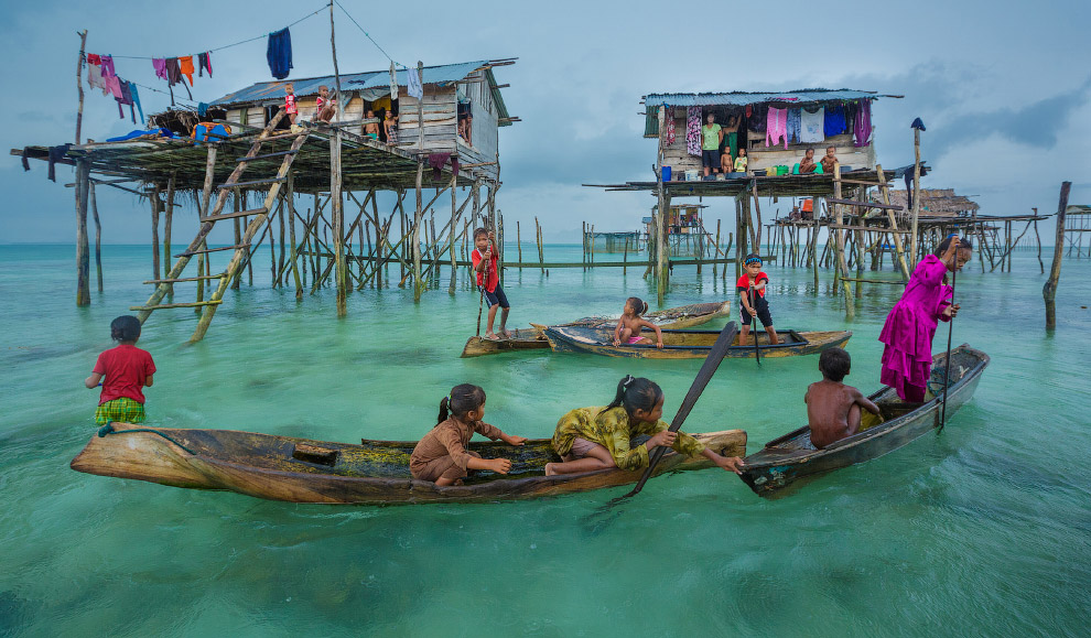 Дома на воде в Семпорне,Малайзия
