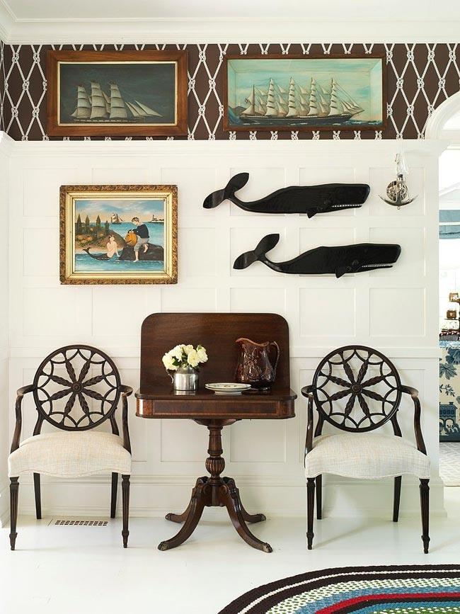 Нетривиальный интерьер дома в морском стиле