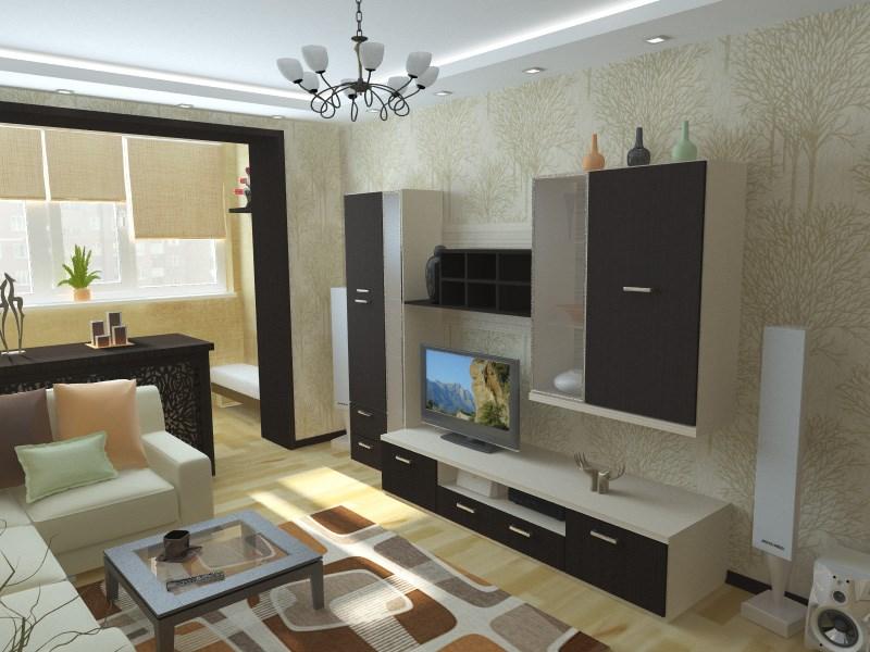 Дизайн гостиной 18 кв м с лоджией