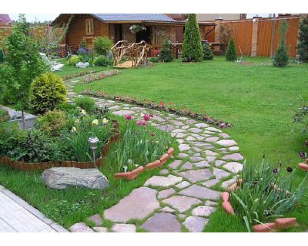 Ландшафтный дизайн садовой дорожки