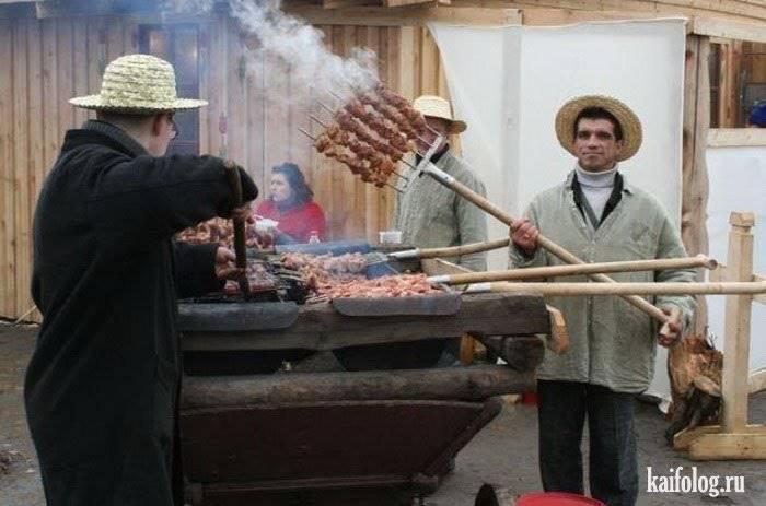 Прикольные фотки по приготовлению шашлыка!!!