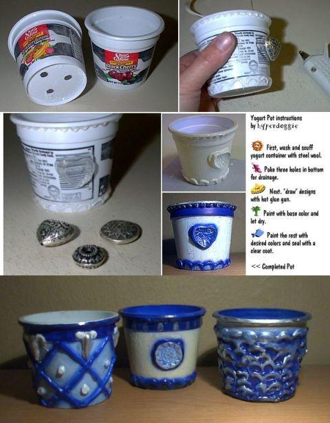 Мотор на Поделки из банок от йогуртов