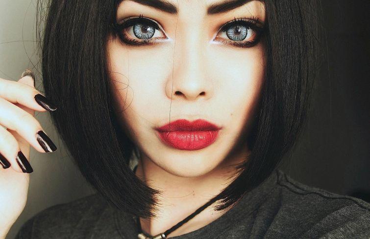 Макияж для глаз девушек с темными волосами