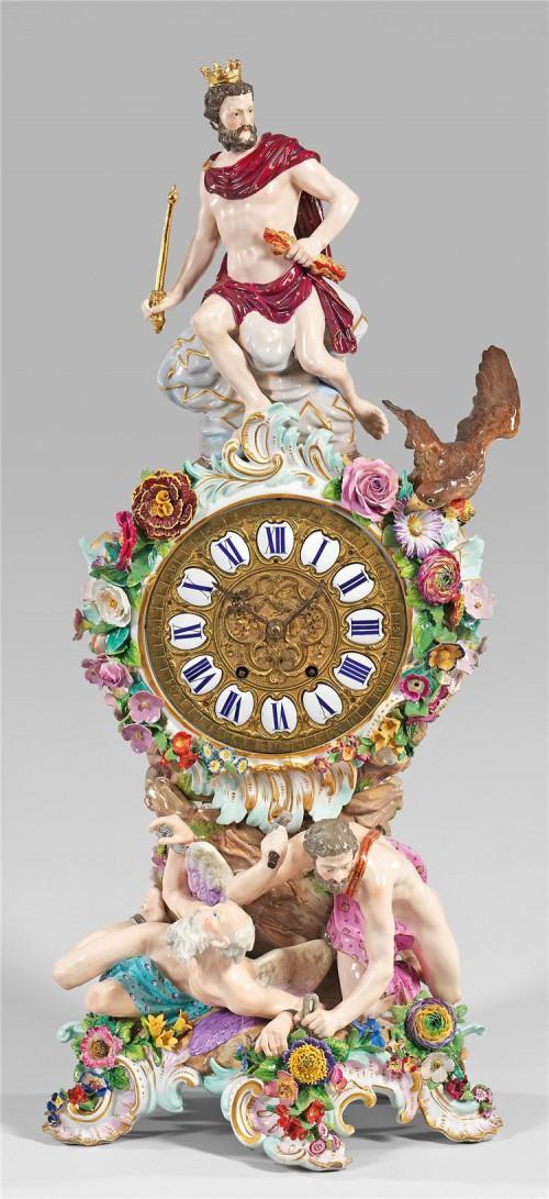 антикварный фарфор часы - 07