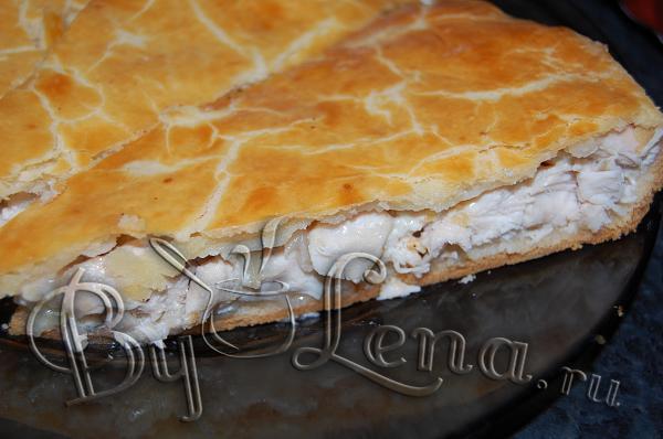 Пирог с куриными грудками и сметаной - нереально вкусно - нежно, сочно, ароматно