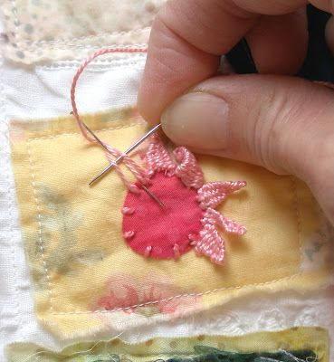 Embroidery: How to and many pictures of different stitches.: