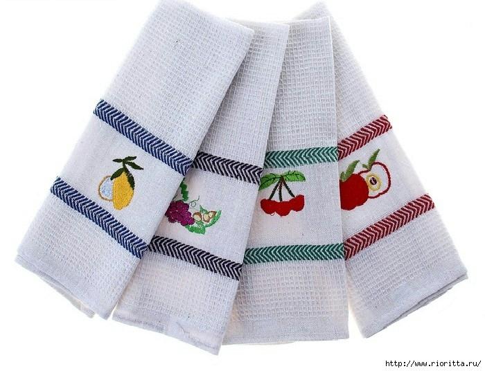Как отстирать кухонные полотенца, если обычные способы не помогают