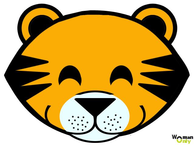 Новогодние маски из бумаги - праздник уже с вами маска тигра