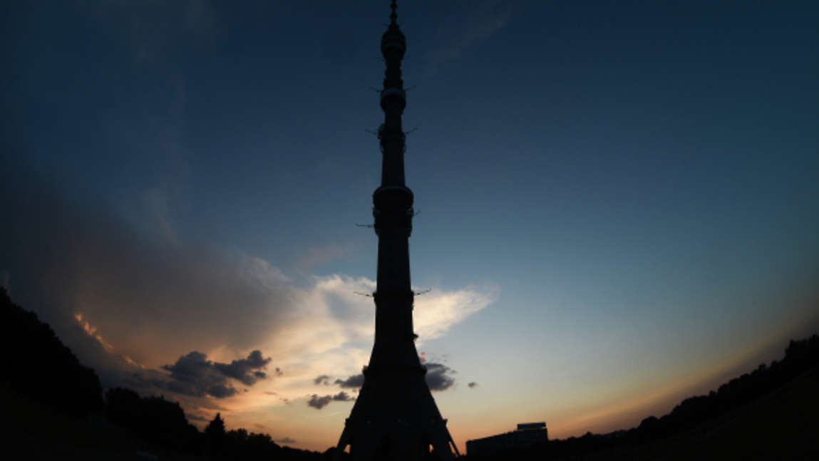 Подсветку Останкинской башни…