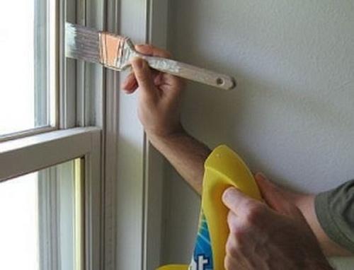 Покрасить пластиковые окна своими руками