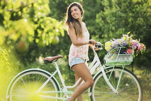 Велосипеды и девушки фото