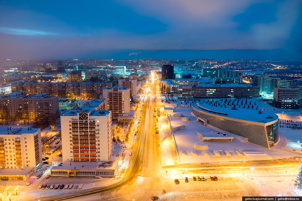 Уфа - один из самых красивых городов России. Взгляд с  высоты