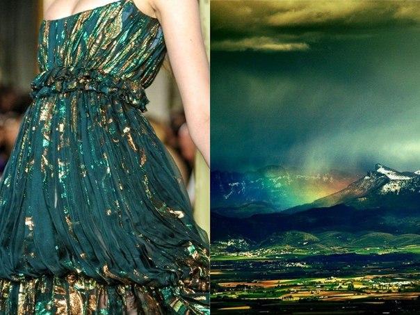 Платья, на создание которых вдохновила сама природа