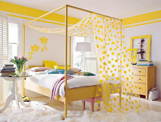 Желтый цвет в интерьере — солнечный праздникИс