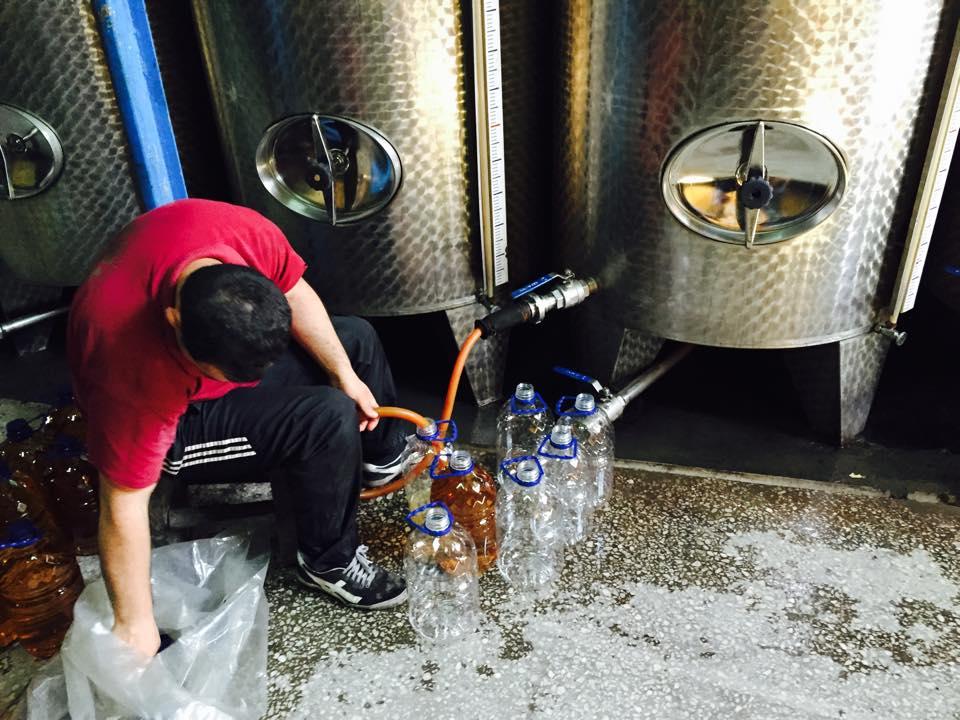 Разлив одного из сортов вин на продажу ( Кахули) Киндзмараули, вино, грузия, факты