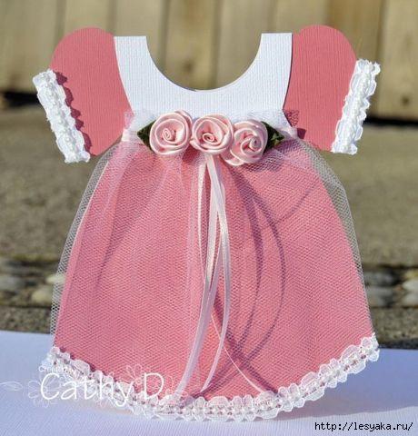 Открытка платье своими руками шаблон