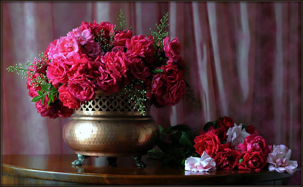 Фото добрый вечер с цветами