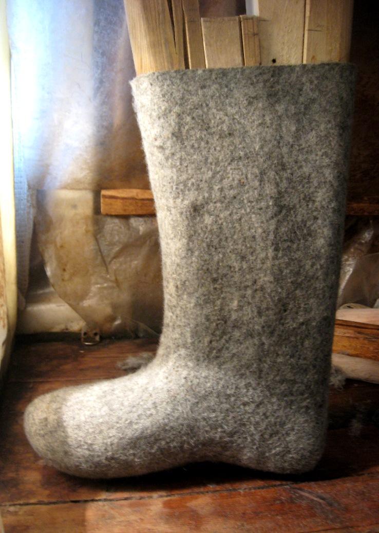 Ботинки из валенок своими руками 29