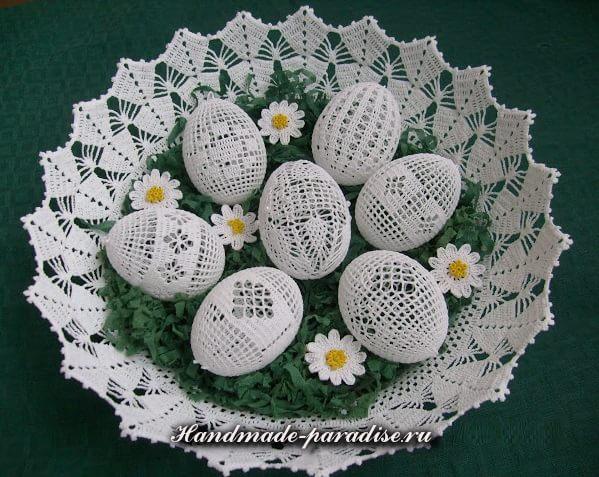 Схемы обвязки крючком пасхальных яиц. Идеи и схемы вязания