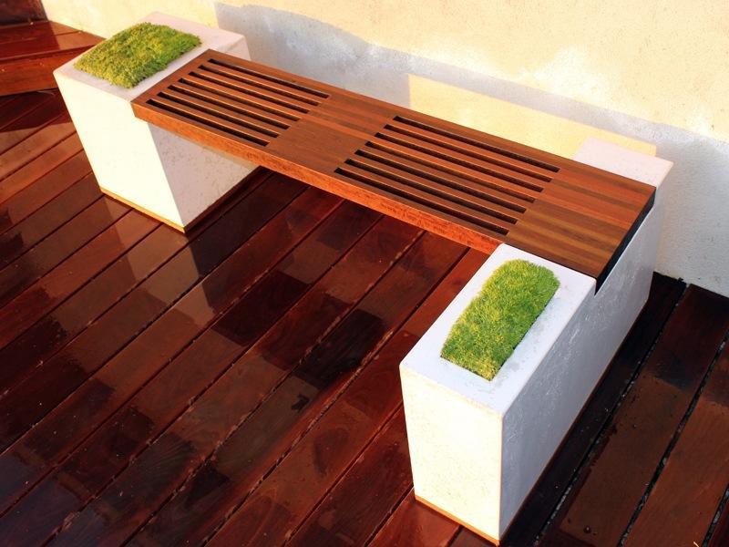 Интересная идея ландшафтного дизайна: встроенные клумбы