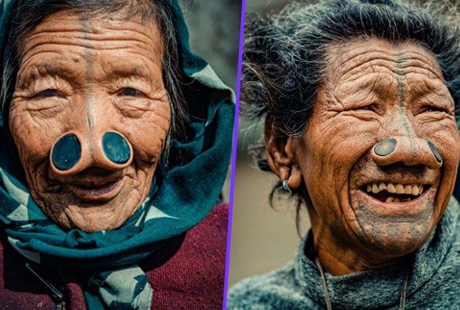 Обычаи индийского племени, где женщины должны носить пробки в ноздрях