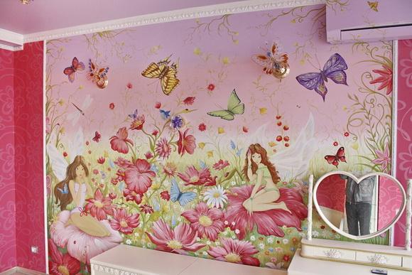 Роспись стен для комнаты