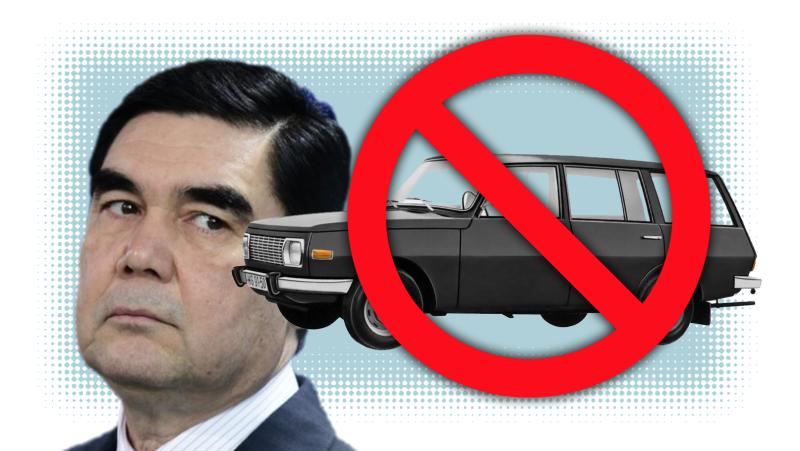 В Туркменистане будут только белые авто и не будет женщин за рулем