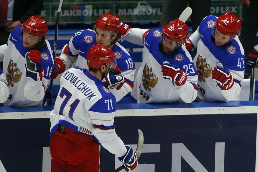 Россия обыграла Словению в ЧМ-2015 по хоккею