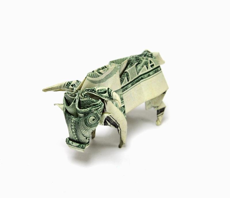 оригами из долларовых банкнот