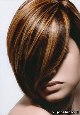 мелирование на темные волосы на каре